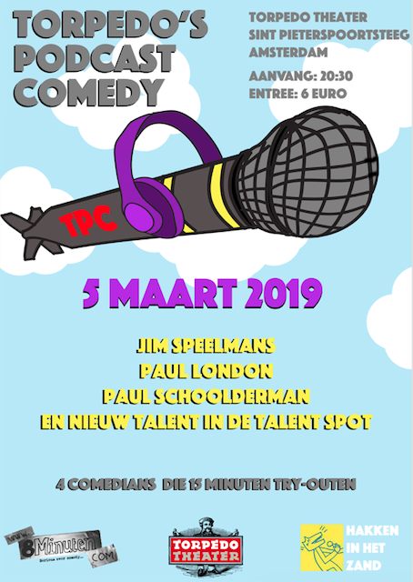 Podcast Comedy maart